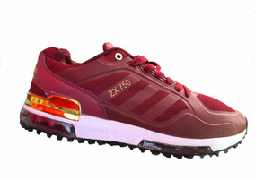 low priced f6491 bb8f9 Tenis Outlet adidas Zx750 Vino placa Dorada