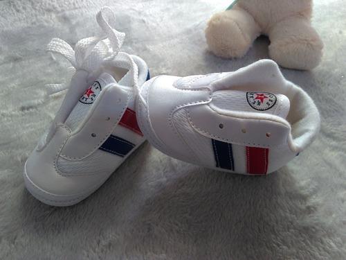 tenis para bebe tipo tomy blanco