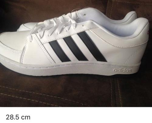 tenis para caballero adidas blanco con negro - envio incluid