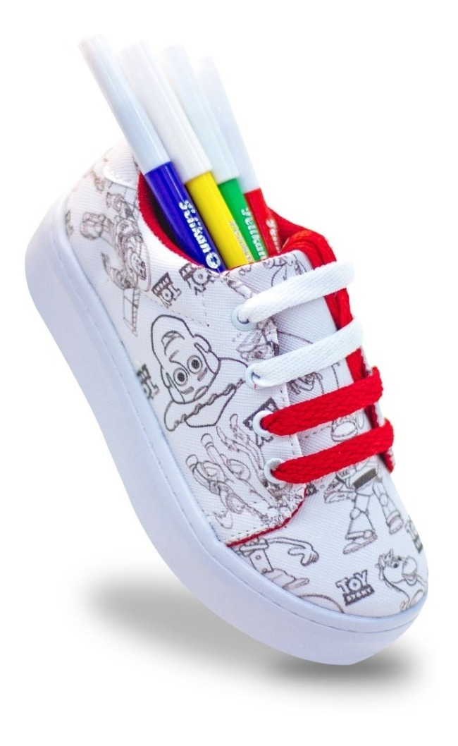 Tenis Para Colorear Toy Story 4 Woody Forky Buzz