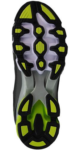 tenis para correr karosso 6318 negro verde