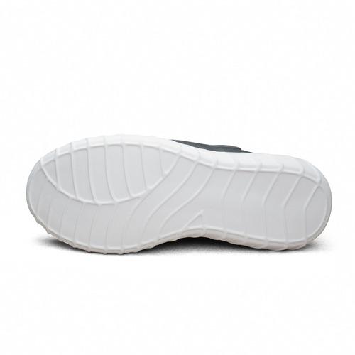 tenis para correr karosso 8703 negro con suela de eva blanca