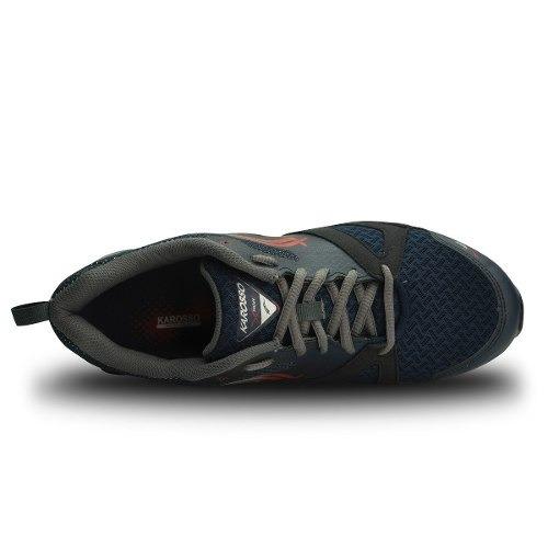 tenis para correr karosso azul marino gris 6311