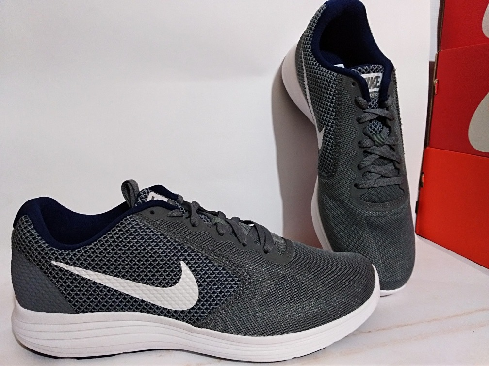 Tenis Para Correr Nike Revolution 3 Color Gris Envio Gratis