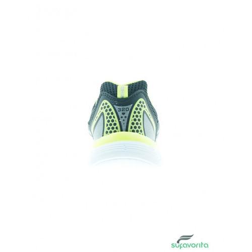 tenis para correr para dama sintetico negro amarillo neon ma
