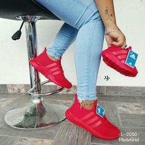 imagenes de zapatos adidas dama roja rojo