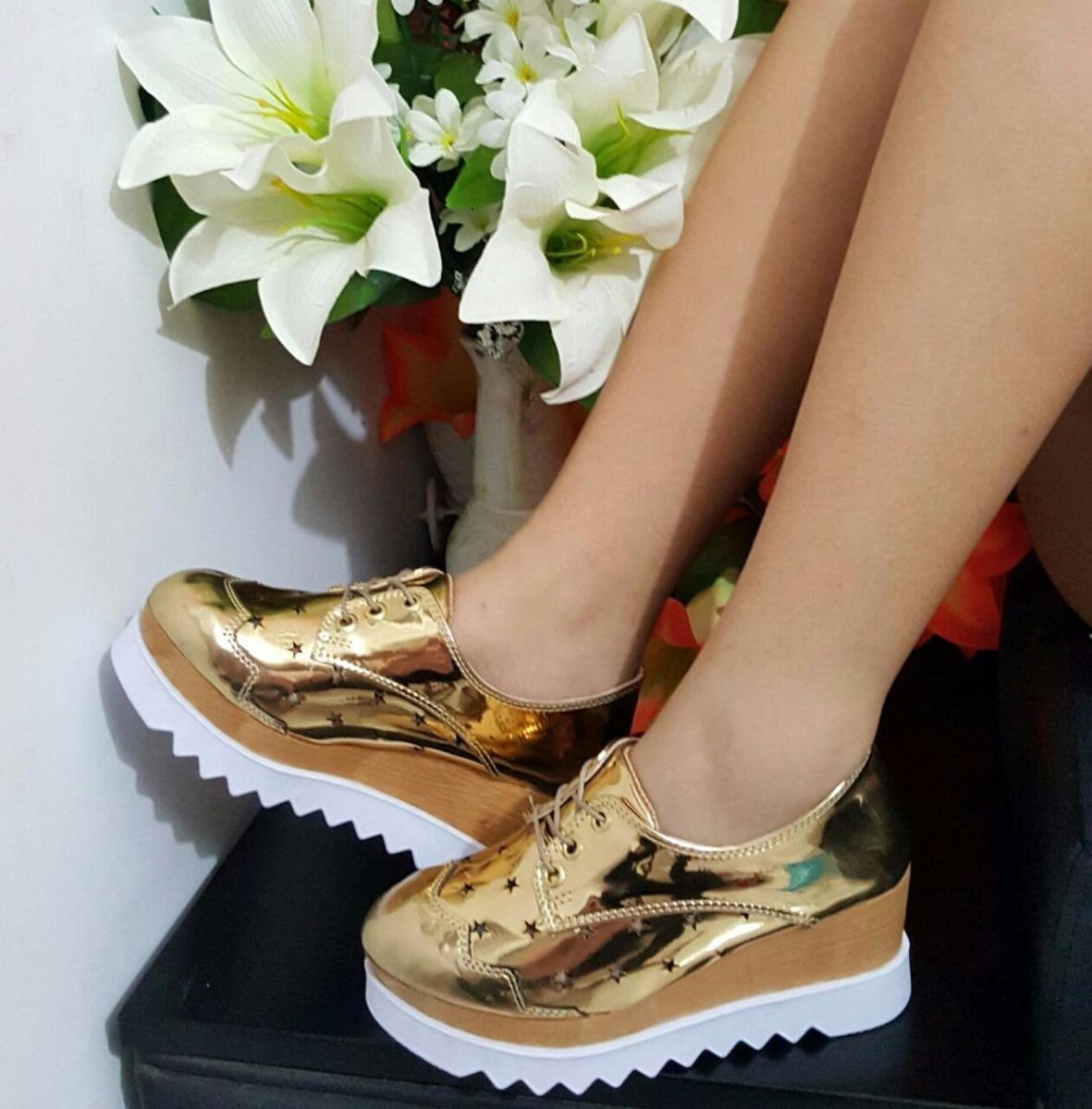 c446424ffb3 tenis para mujer color dorado plataforma zapato dama moda. Cargando zoom.