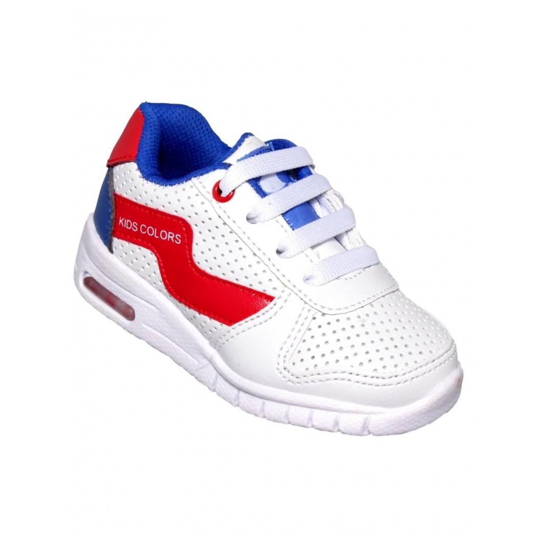 7dd1f22b88a tenis para niño sintetico blanco rojo marca kids colors. Cargando zoom.