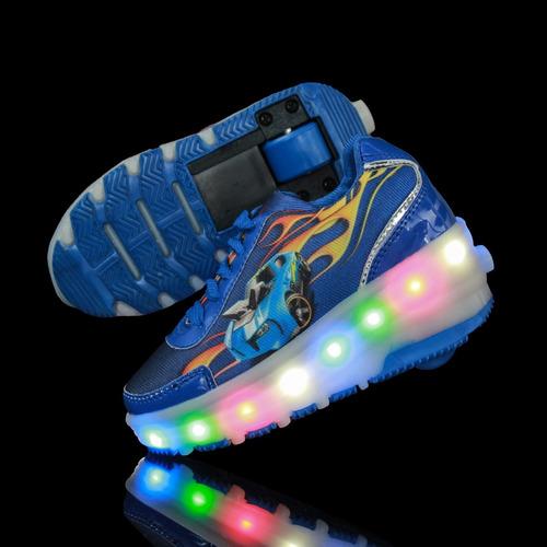 tenis-patin con luz led