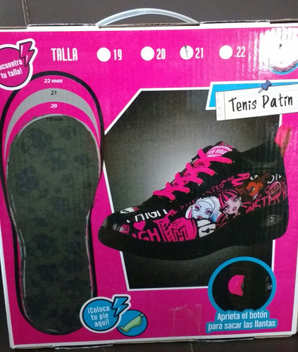 tenis patines dos en uno! monster high