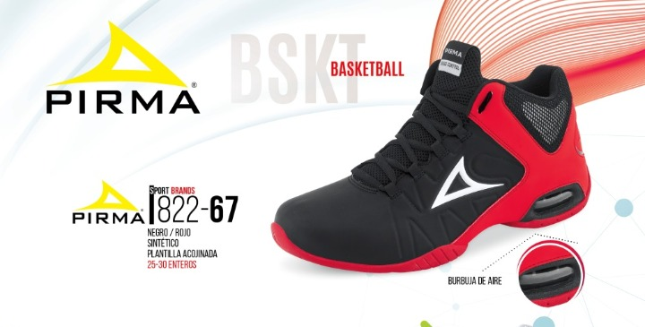 1090298f393 Tenis Pirma P hombre Negro rojo 822-67 C plantilla Basketbal ...