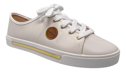 tenis piso casual niña 2524306 molekinha blanco