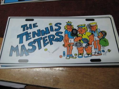 tenis - placa matricula de acrilico 30 x 15 cm -
