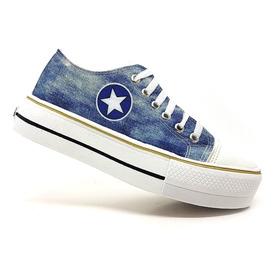 Tênis Plataforma Converse All Star Jeans Original