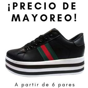 589bced8f Tenis Plataforma Dama Gucci - Negro Mayoreo 6 Pares