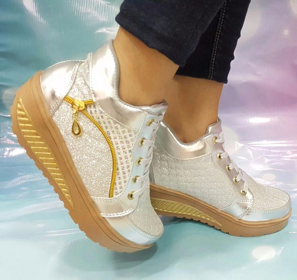 5fcce60c94 tenis plateado tendencia colombia moda zapato dama mujer. Cargando zoom.