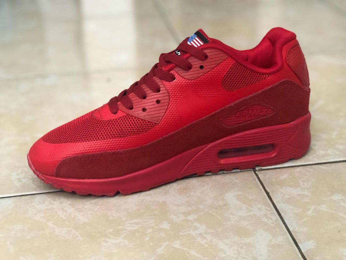cheap for discount 03677 a1e05 Tenis Promoción Nike Air Max 90 Rojo Línea Gamuza - $ 1,300.00 en ...