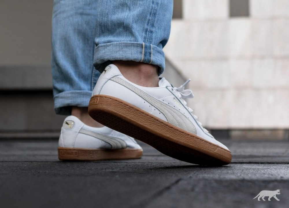 PUMA Men/'s Basket Classic Gum Deluxe Sneaker
