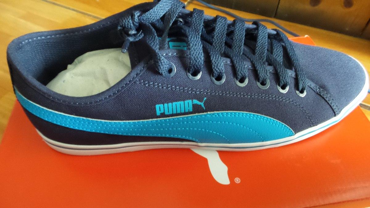 Tenis Puma Casuales Elsu V2 Cv Azul 27cm Meses Sin Interes
