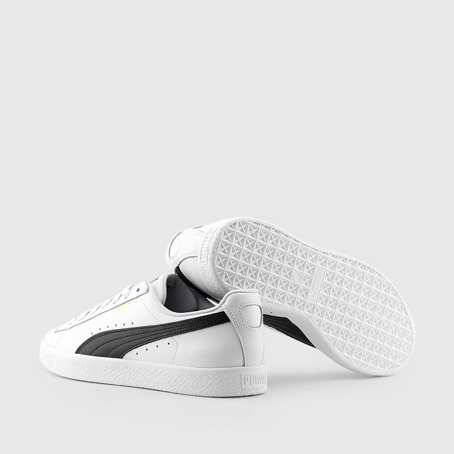 best sneakers 12522 352c9 Tenis Puma Clyde Core 364669-01 White/black Leather