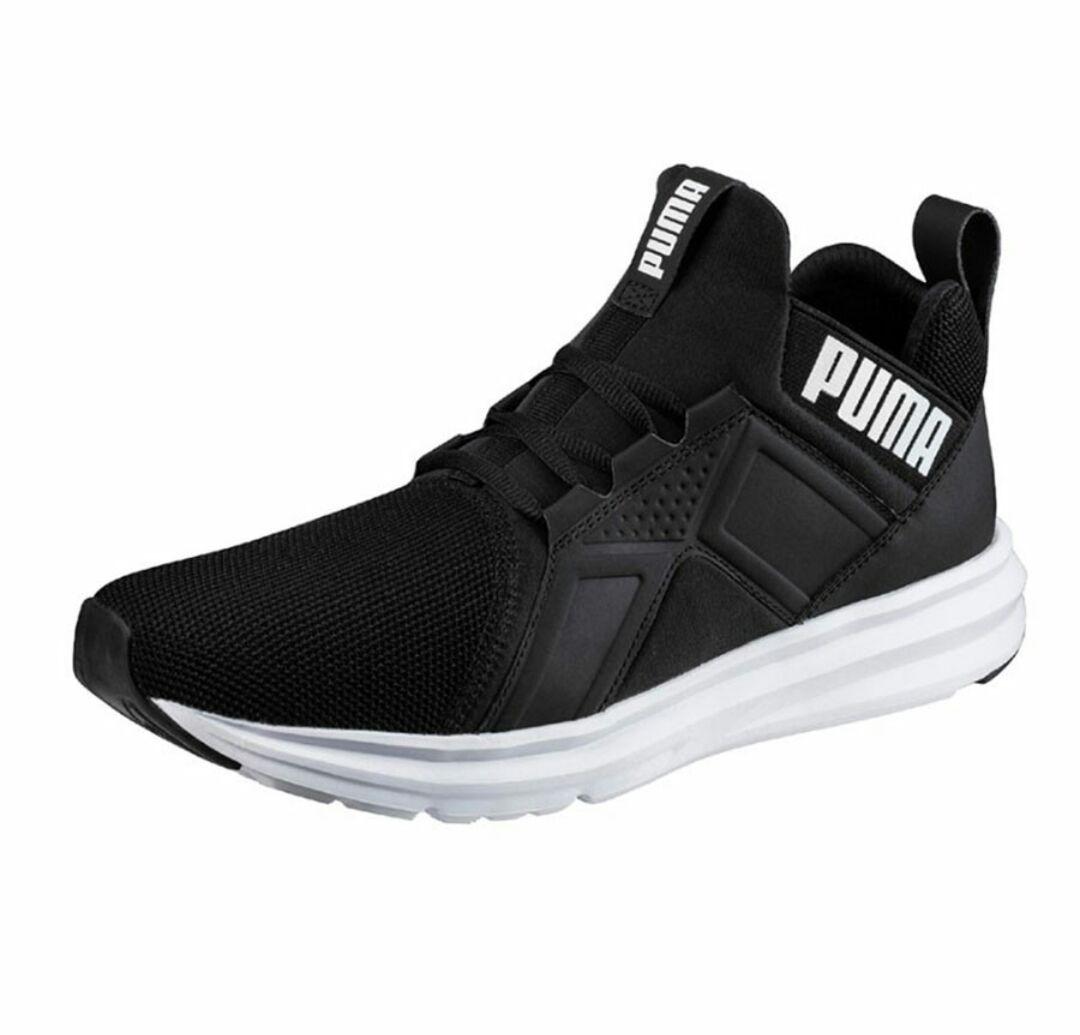 Tenis Puma Enzo Botin Zapato Puma Hombre Negro Blanco