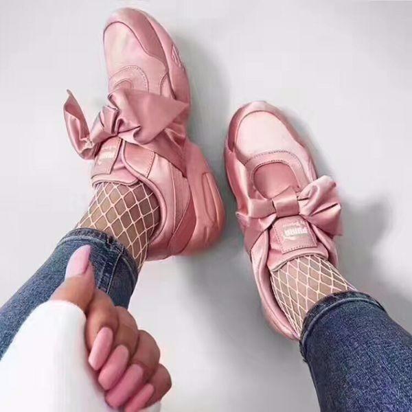 Tenis Puma Fenty Bow Sneakers Rosa Originales 2018