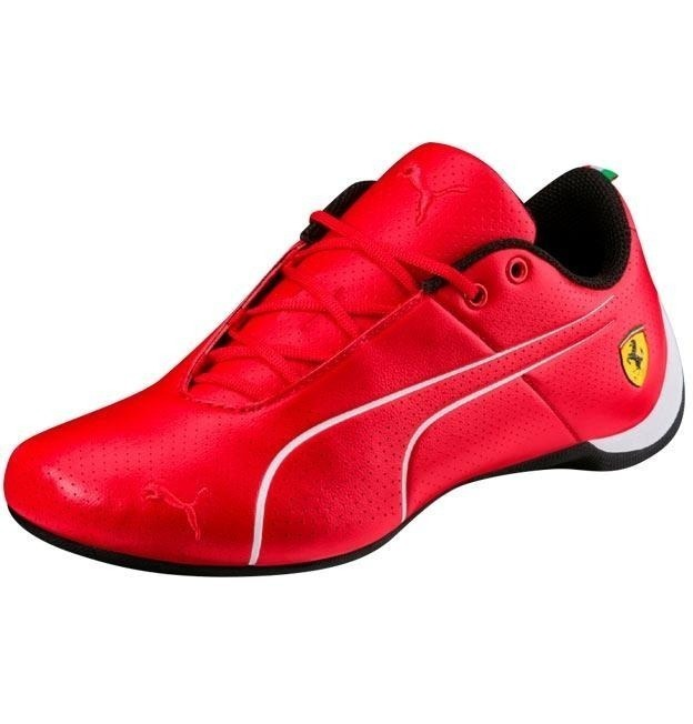 55aa11a8e4209 Tenis Puma Ferrari Future Cat Rojo Piel Niño Casual Original ...