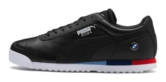 Tenis Puma Hombre Negro Bmw Mms Roma 30619503