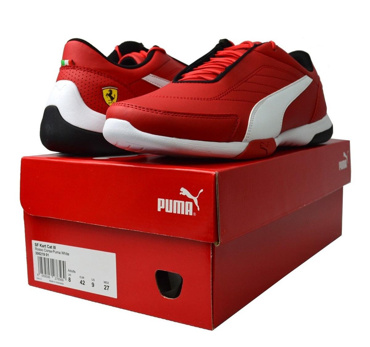 zapatos puma hombre rojo