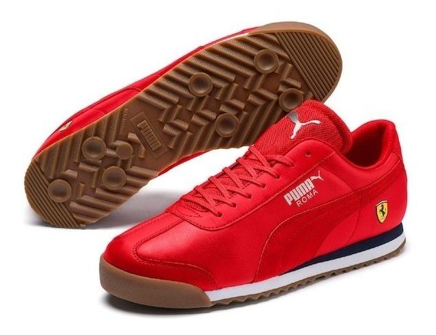 Tenis Puma Hombre Rojo Sf Roma 30608309