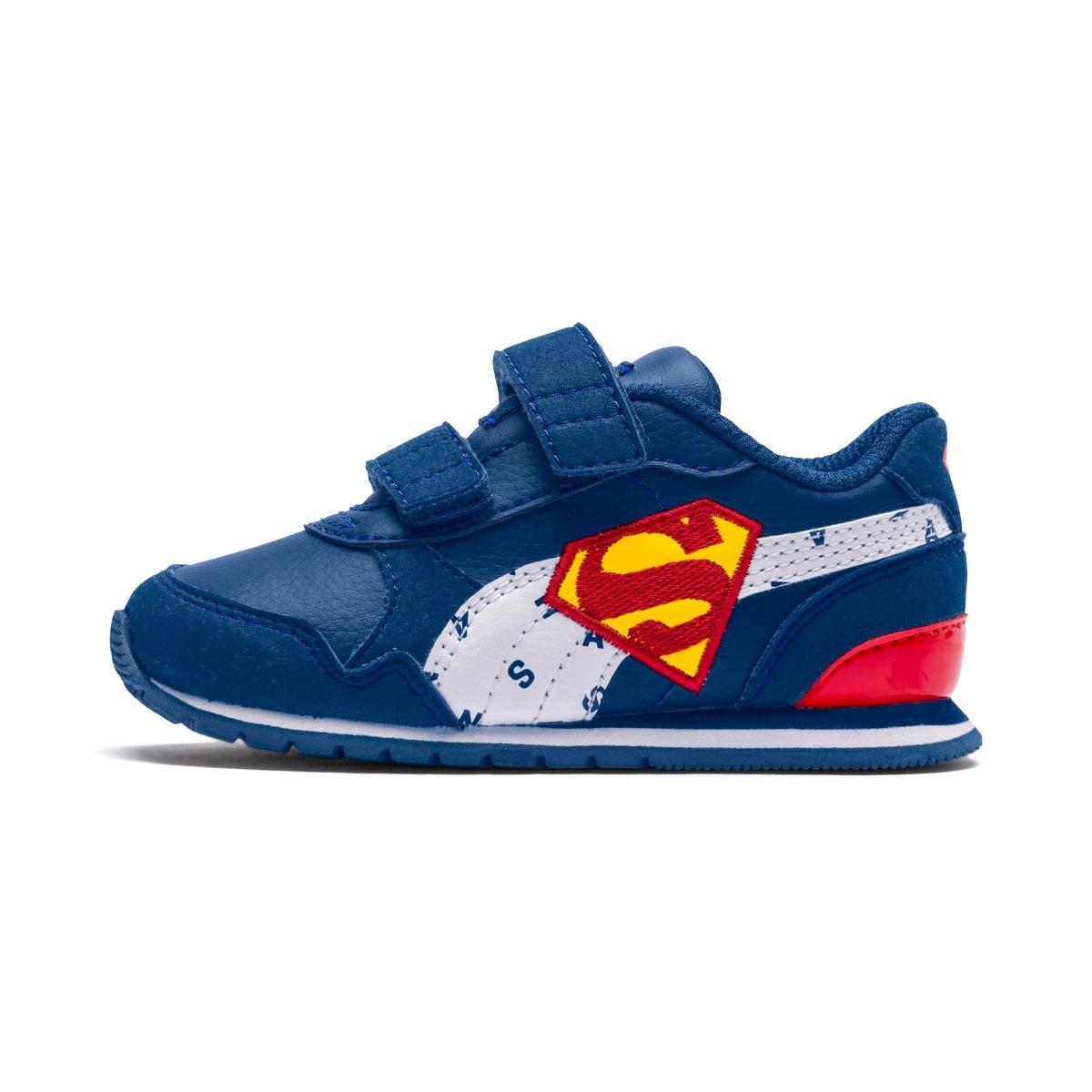 44c8ff1674a tenis puma liga de la justicia superman bebe talla 11 y 14. Cargando zoom.