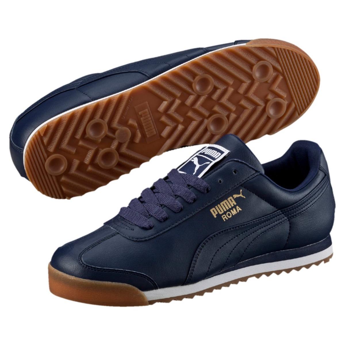 4088f1244 tenis puma roma azul marino hombre 353572-59 look trendy. Cargando zoom.