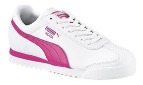Tenis Puma Roma Basic Jr Blanco Tallas #22 Al #25 Mujer
