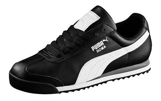 Tenis Puma Roma Basic Negro Tallas Del #25 Al #30 Hombre Ppk