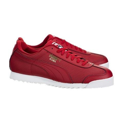 63e26442779 tenis puma roma basico perf jr casual urbano en color rojo. 6 Fotos