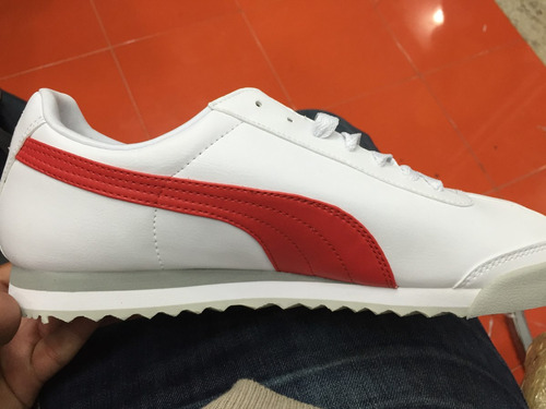 Puma Roma Blanco Con Rojo