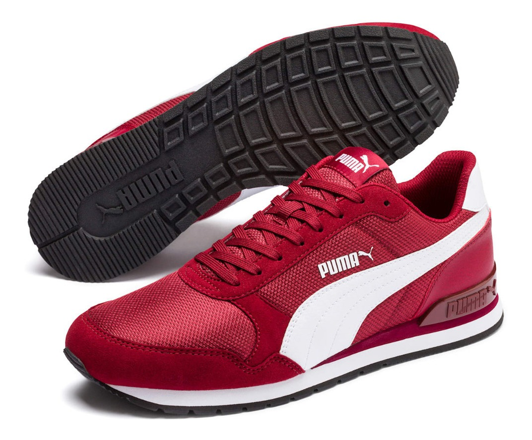 Tenis Puma St Runner V2 Mesh Soft Foam Casuales Hombre Rojo