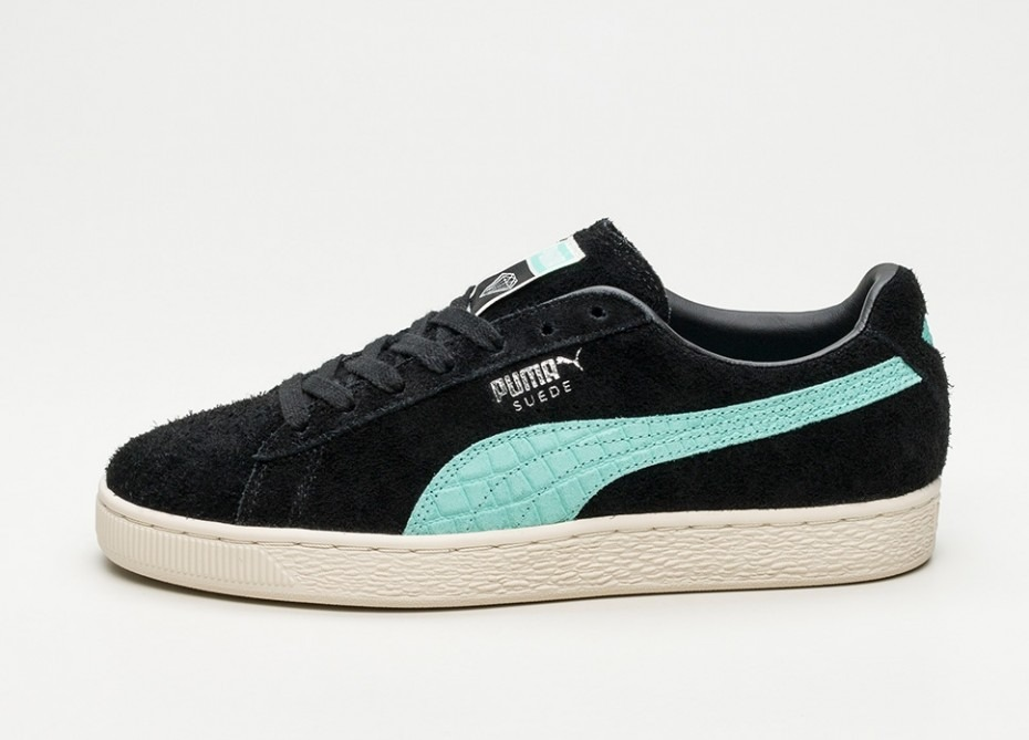 low priced 6fe4b 5f252 Tenis Puma Suede Diamond Supply Preto Casual Classico