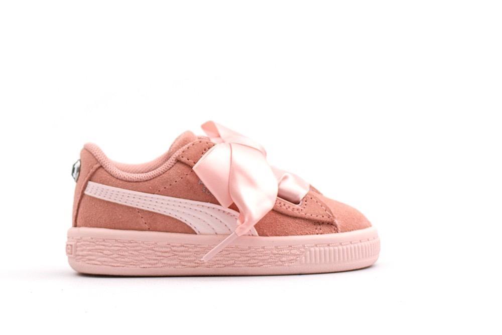 puma suede rosa niña
