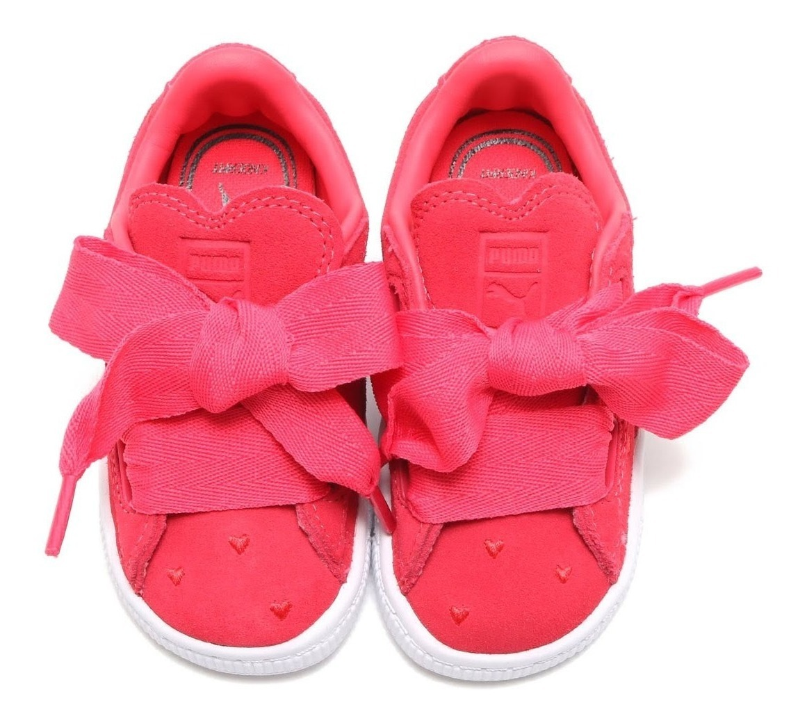 new arrival 4765a 5b364 Tenis Puma Suede Heart Valentine Infant 365137-01 Rosa