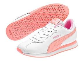 Tenis Puma Turin Ll White Tallas Del #22 Al #25 Mujer Ppk