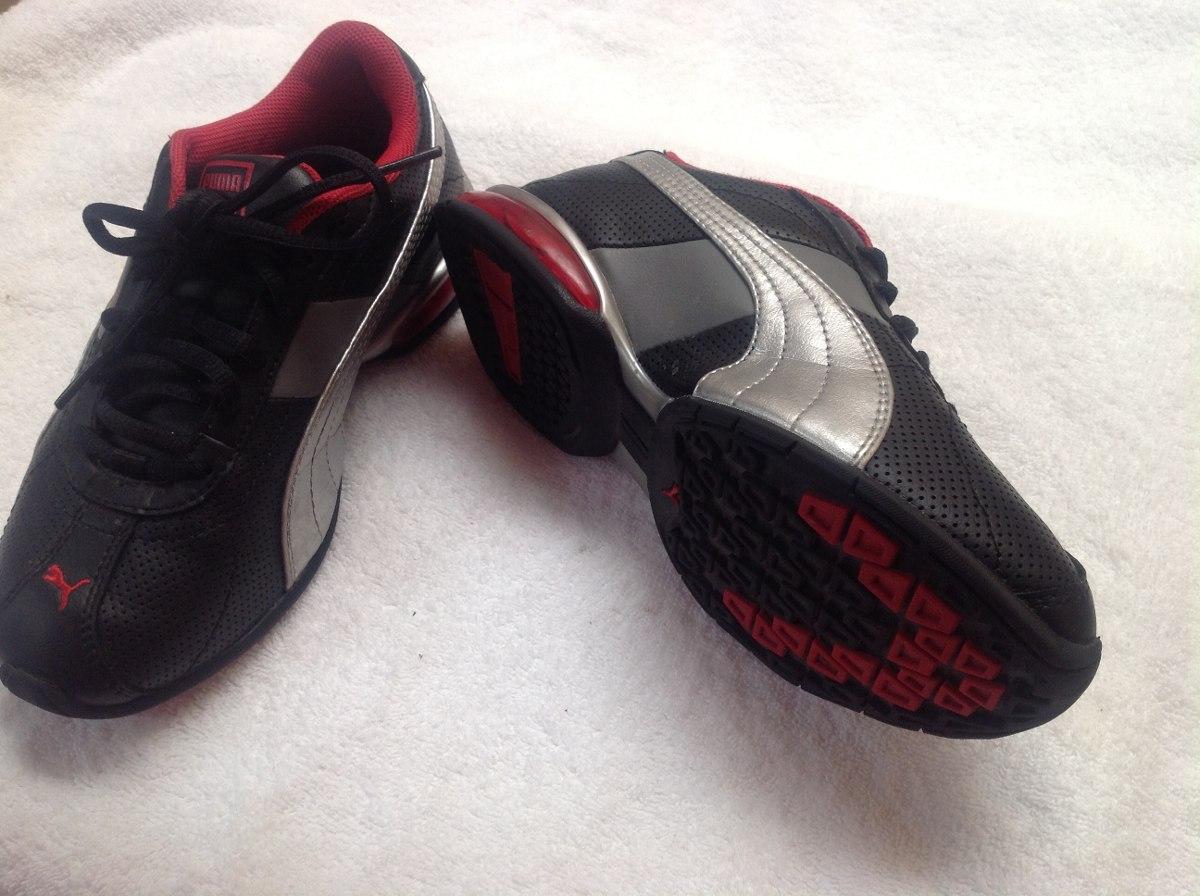 tenis puma rojos con negro