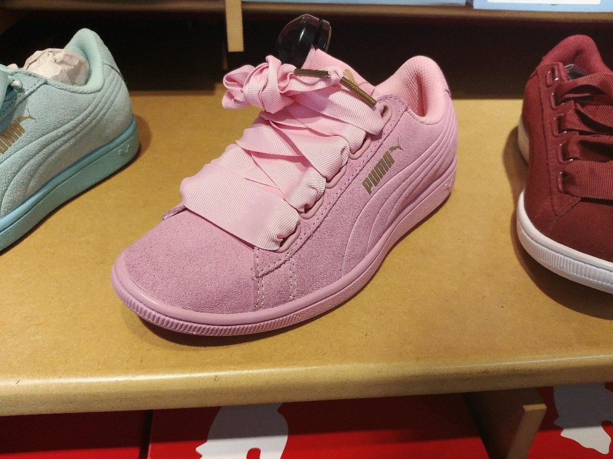 cdabac2edfc tenis puma vikky ribbon rosa palido bonitos dama a meses. Cargando zoom.
