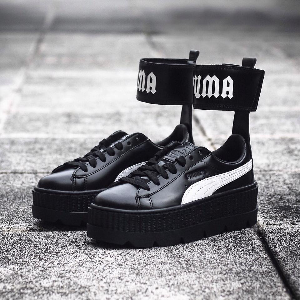 detailed look f2020 9e6ad Tenis Puma X Fenty Cleated Ankle Strap Creeper 22mx
