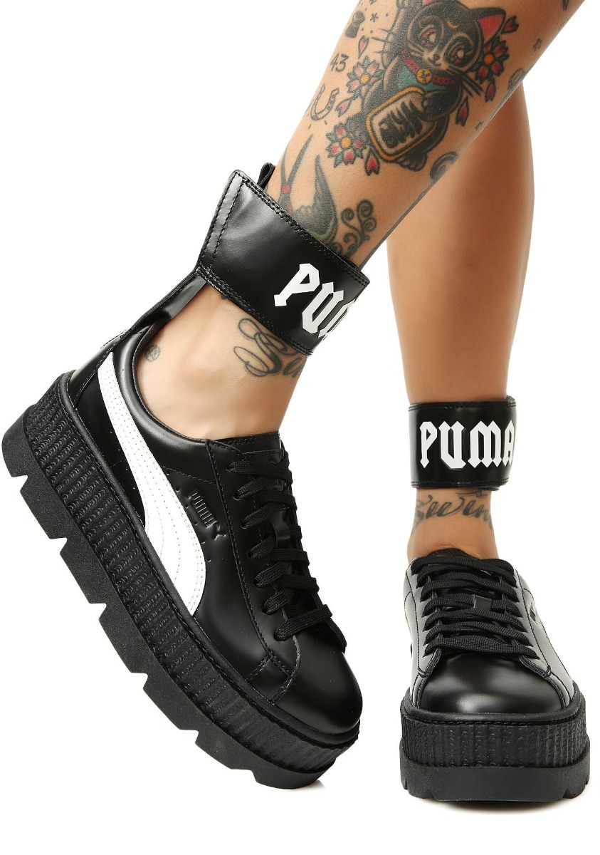detailed look 5ee6a 82f2e Tenis Puma X Fenty Cleated Ankle Strap Creeper 22mx