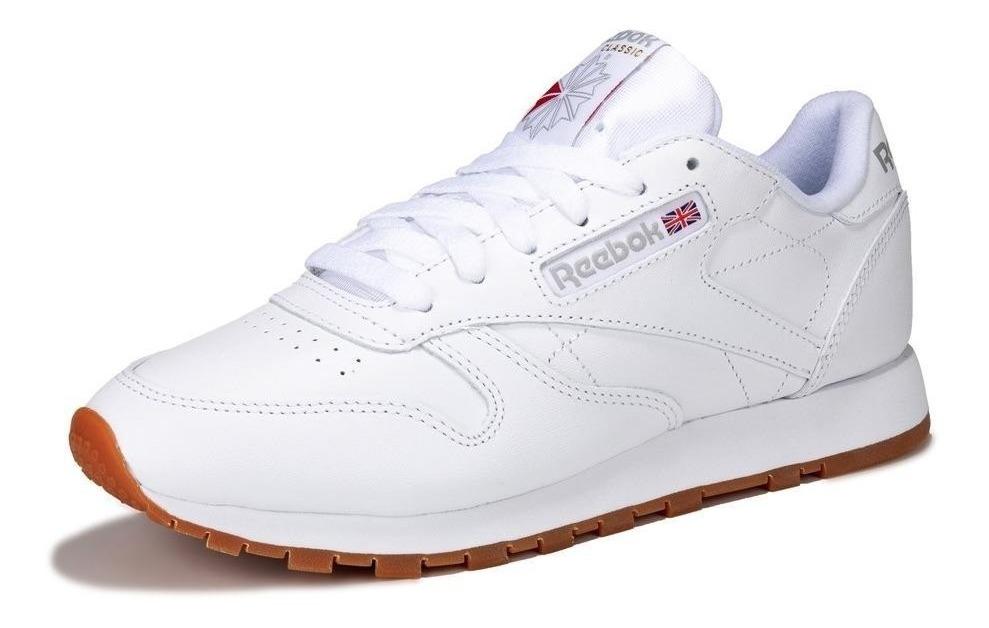 Tenis Reebok Classic Leather Blanco Gum 100% Originales