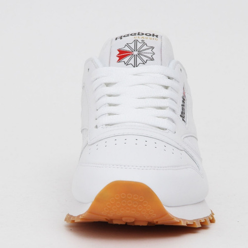 tenis reebok   classic leather blanco/gum