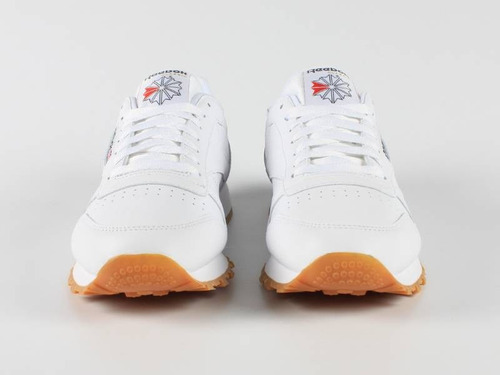tenis reebok   classic leather blanco/gum