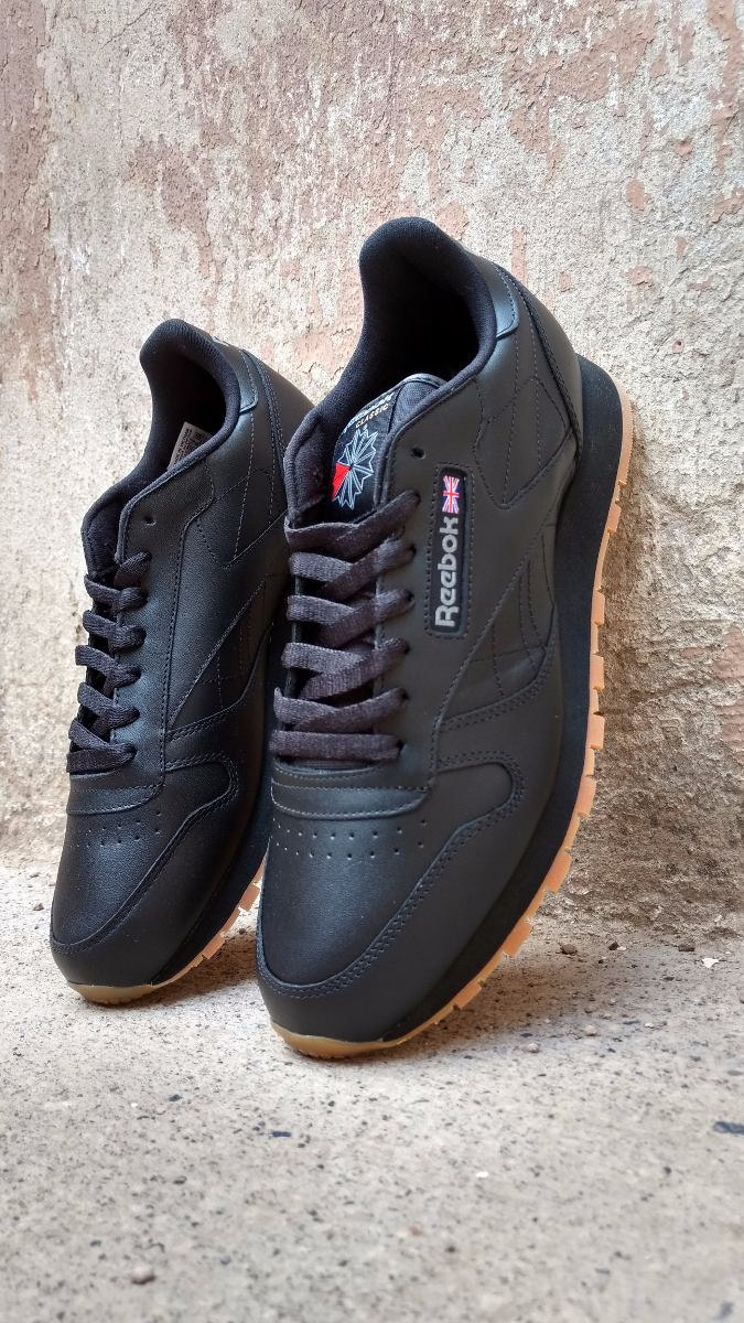 ... clearance tenis reebok classic leather gum 49798 clasico negro goma. cargando  zoom. 8c6ee 2e392 179694005