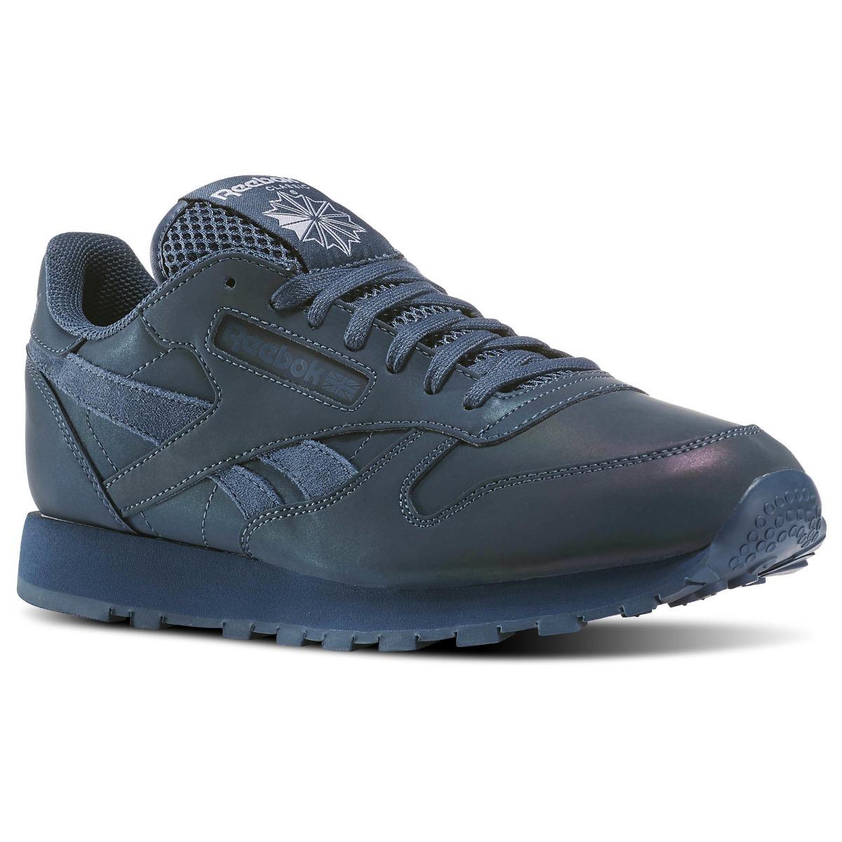 Tenis Reebok Classic Leather Prs Azul Hombres